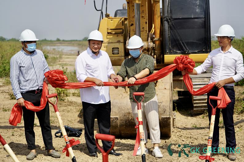 柬埔寨GK5公顷苗木基地开工仪式 登高望远 绿色先行